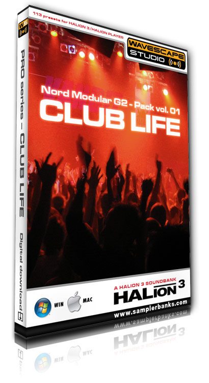 Product picture DJ samples - Club Life - Steinberg HALion 3  format
