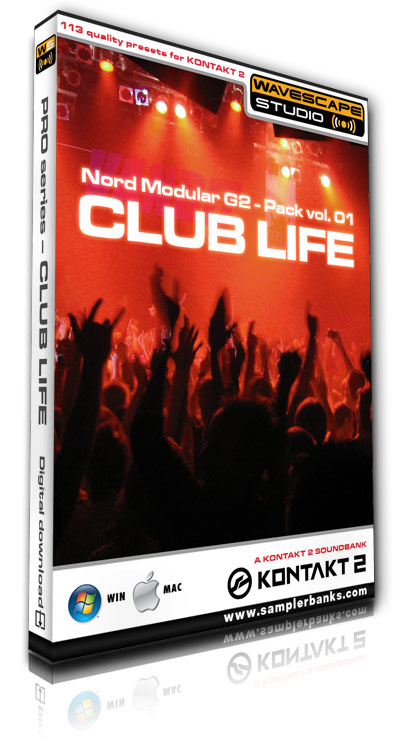 Product picture DJ samples - Club Life - Kontakt 2/3 format