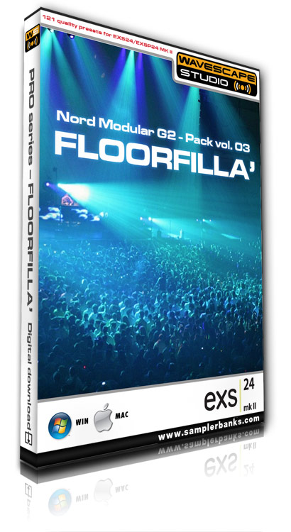 Product picture DJ samples  - Floorfilla  - Apple EXS 24 mk2 format