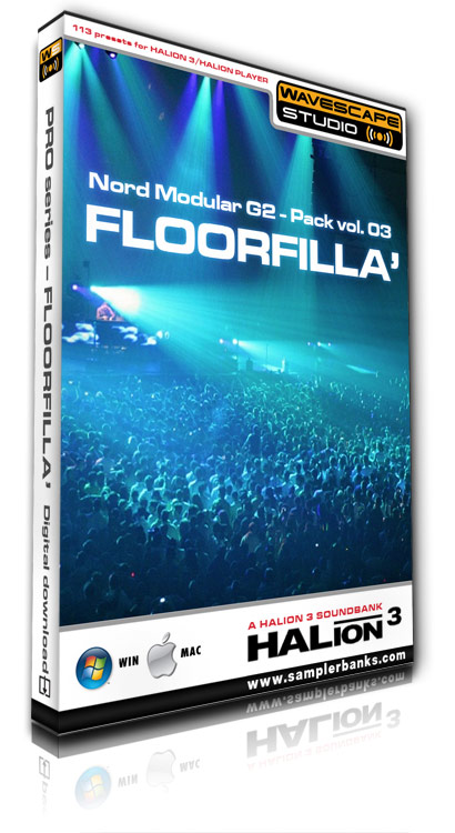 Product picture DJ samples - Floorfilla - Steinberg HALion 3  format